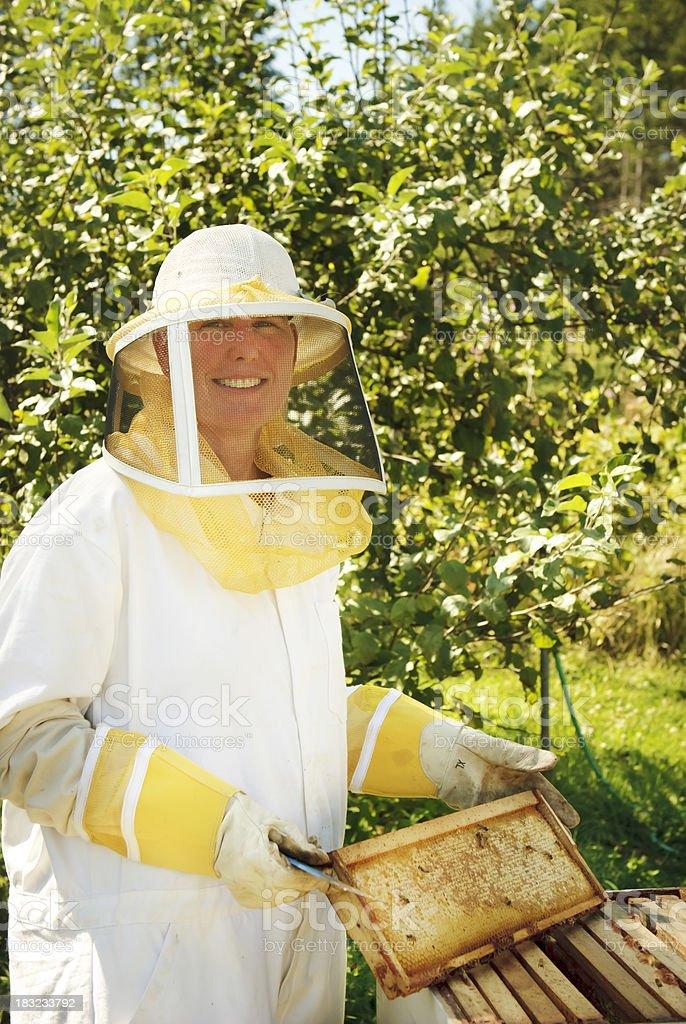 Beekeeper royalty-free stock photo