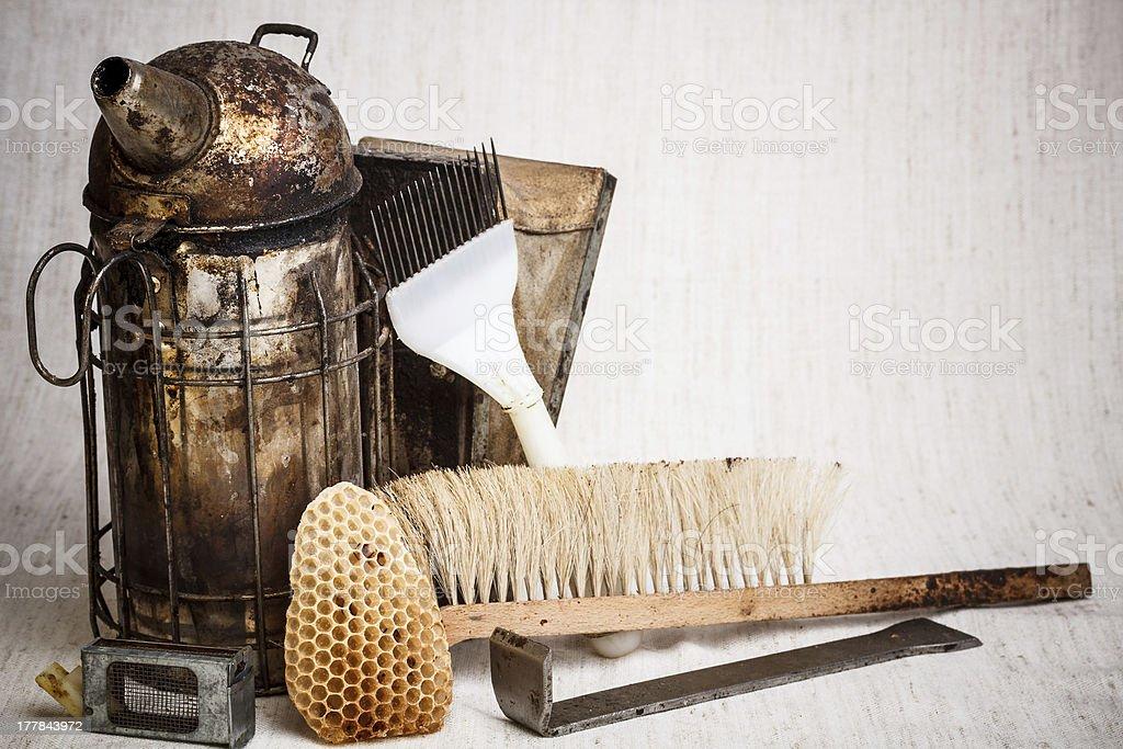 Beekeeping equipment royalty-free stock photo
