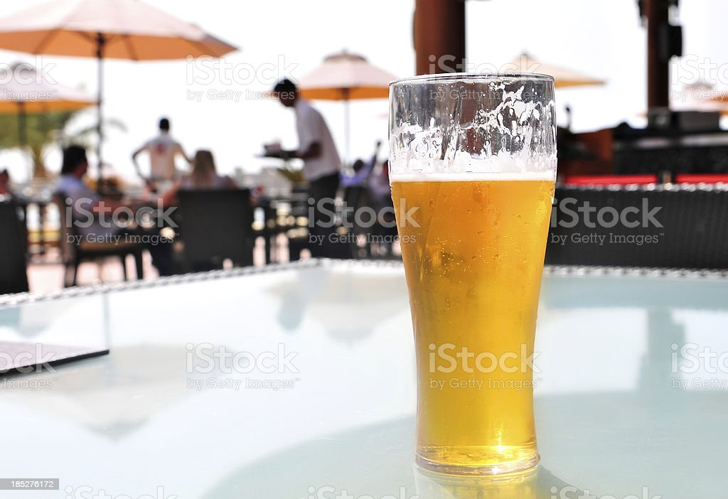 Beer and cafe culture royalty-free stock photo