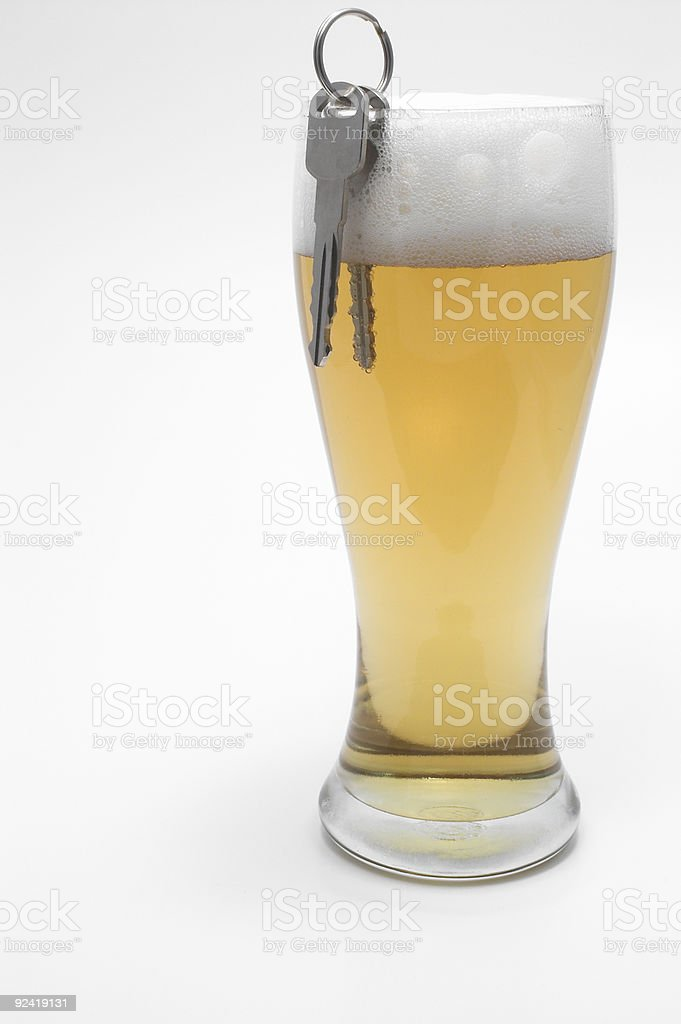 Beer and Car Keys - Drunk Driving Concept royalty-free stock photo