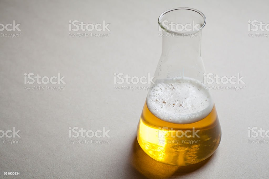 Beer and chemistry stock photo