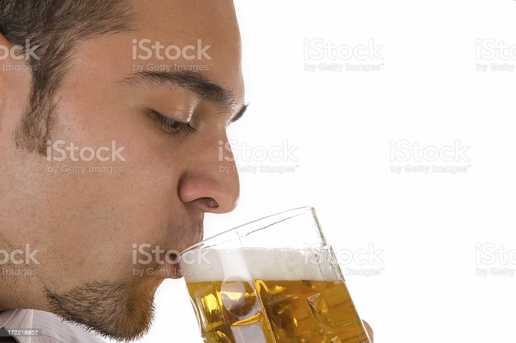 beer and man royalty-free stock photo