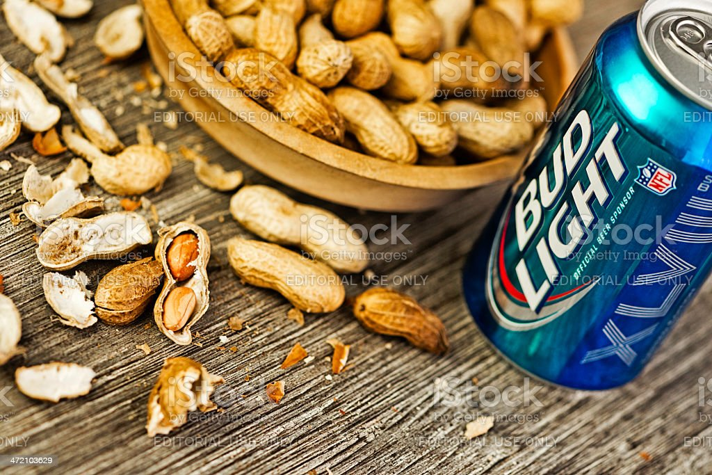 Beer and Peanuts royalty-free stock photo
