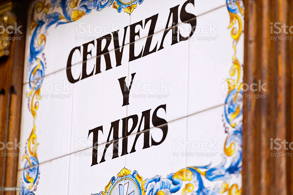Beer and Tapas stock photo