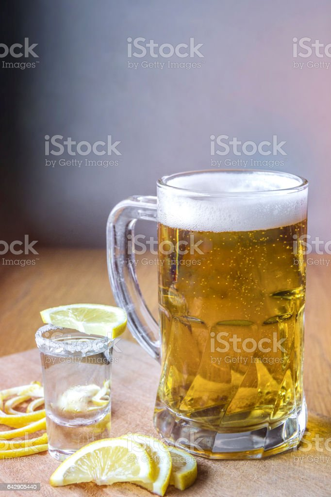 beer and tequila stock photo