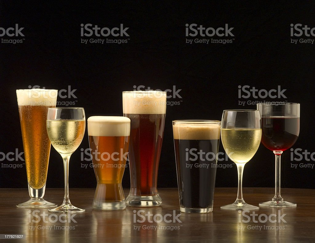 Beer and Wine stock photo