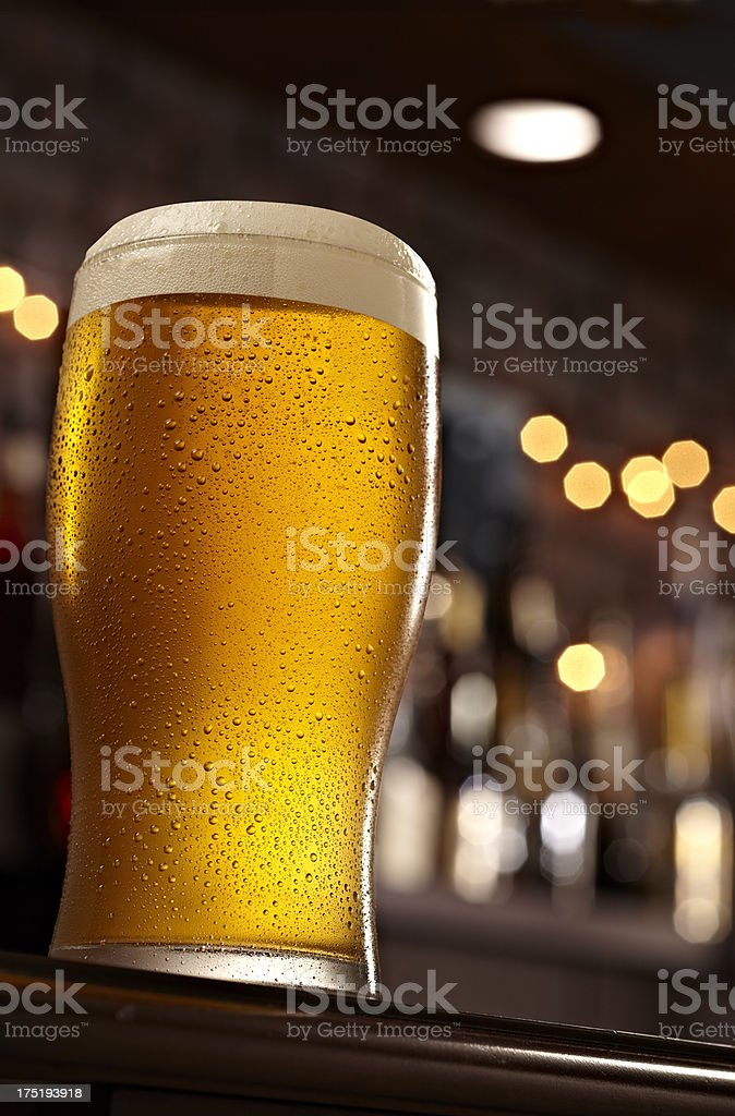 Beer At A Bar royalty-free stock photo
