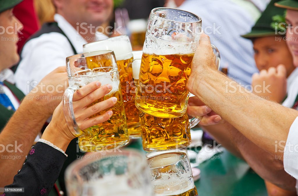 Beer at Oktoberfest in Munich, Germany royalty-free stock photo