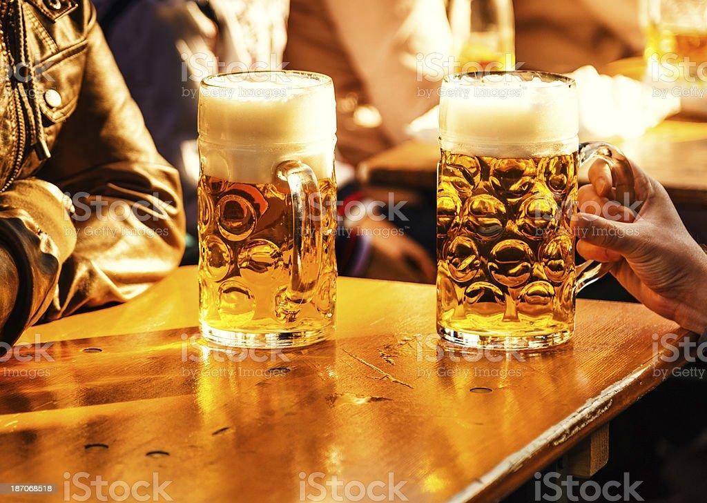 Beer at Oktoberfest royalty-free stock photo