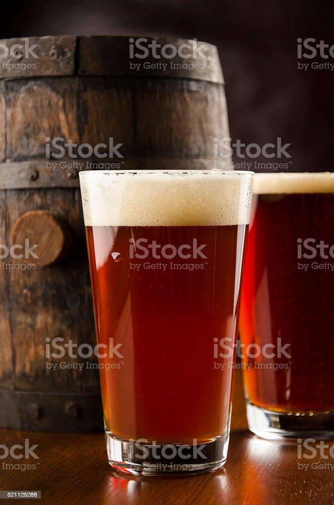Beer Barrel stock photo