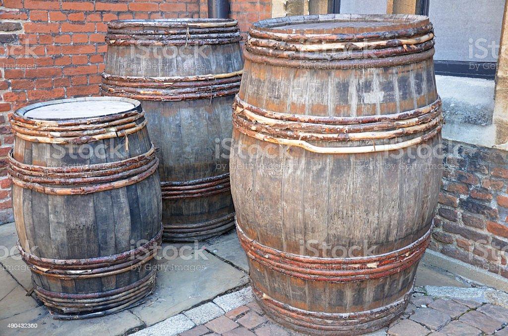 Beer Barrels stock photo