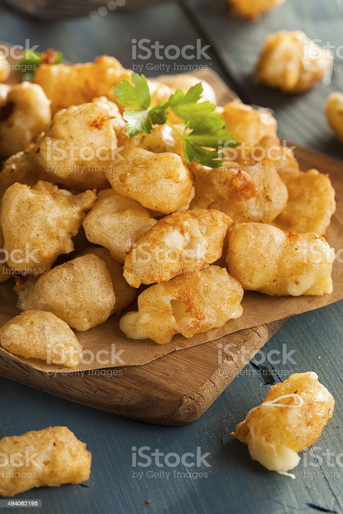 Beer Battered Wisconsin Cheese Curds stock photo