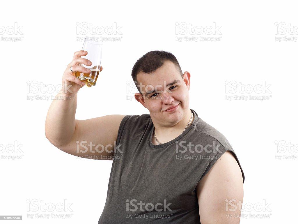 Beer bibber royalty-free stock photo
