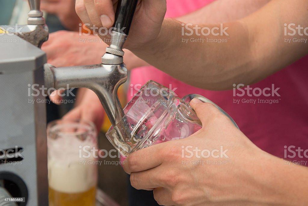 beer - Bierzapfen beim Anstich und Bieranstich stock photo