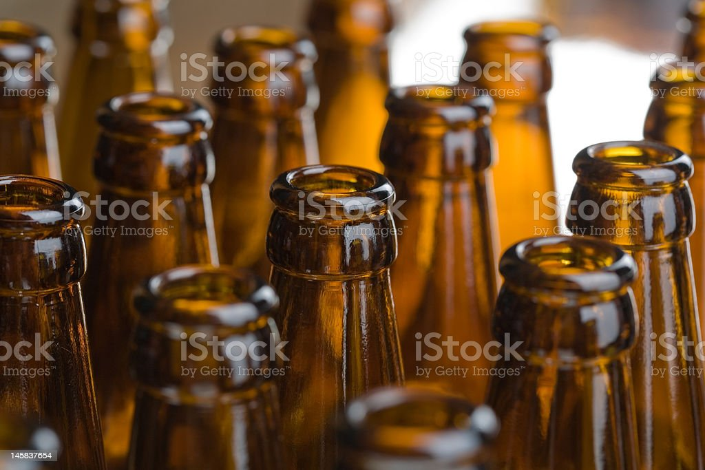 Beer botle stock photo