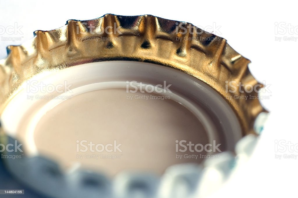 Beer bottle cap royalty-free stock photo