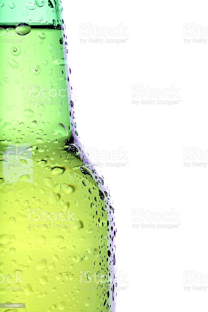 beer bottle closeup isolated stock photo