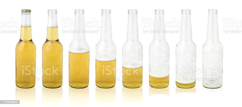Beer bottle evolution royalty-free stock photo