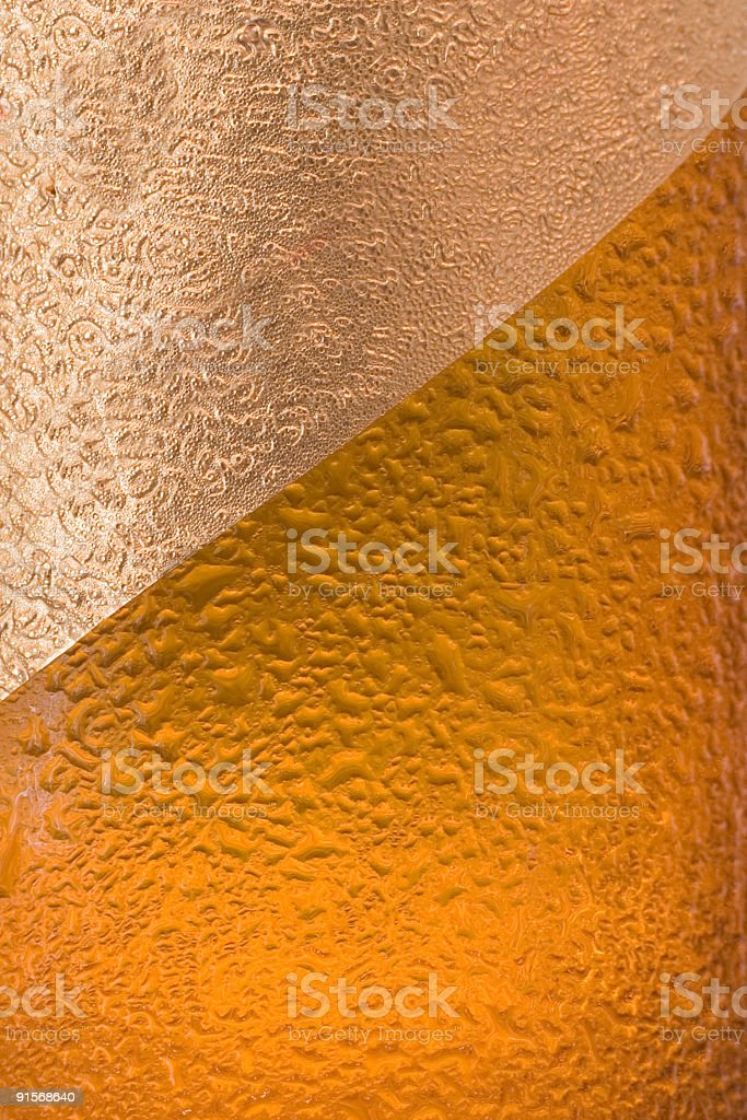 Beer bottle - foil royalty-free stock photo