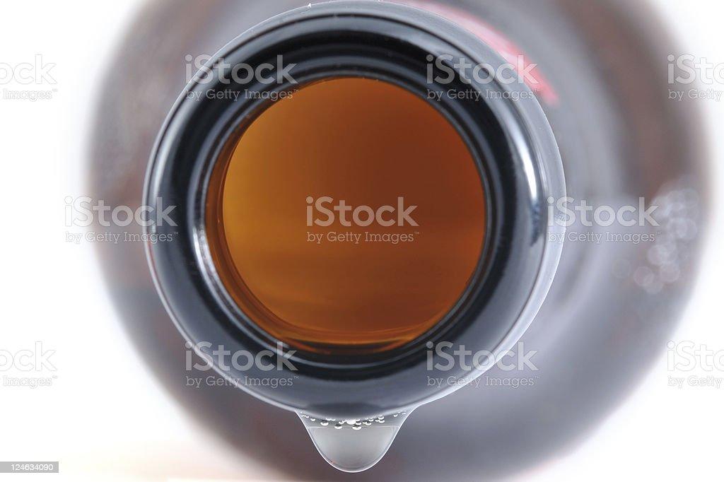 Beer Bottle Macro stock photo