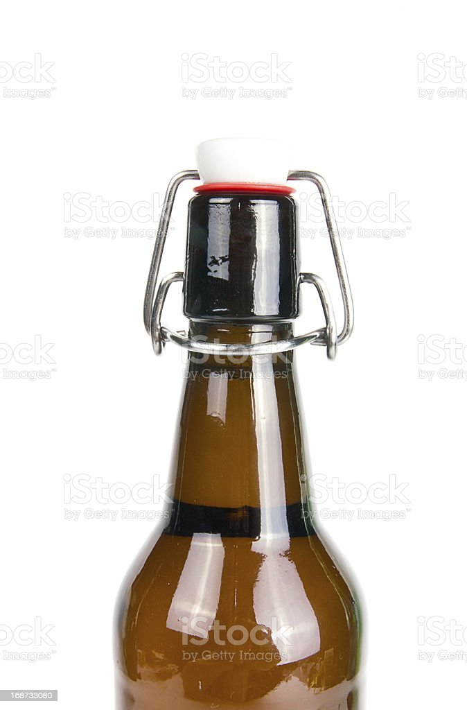 Beer Bottle on white background royalty-free stock photo