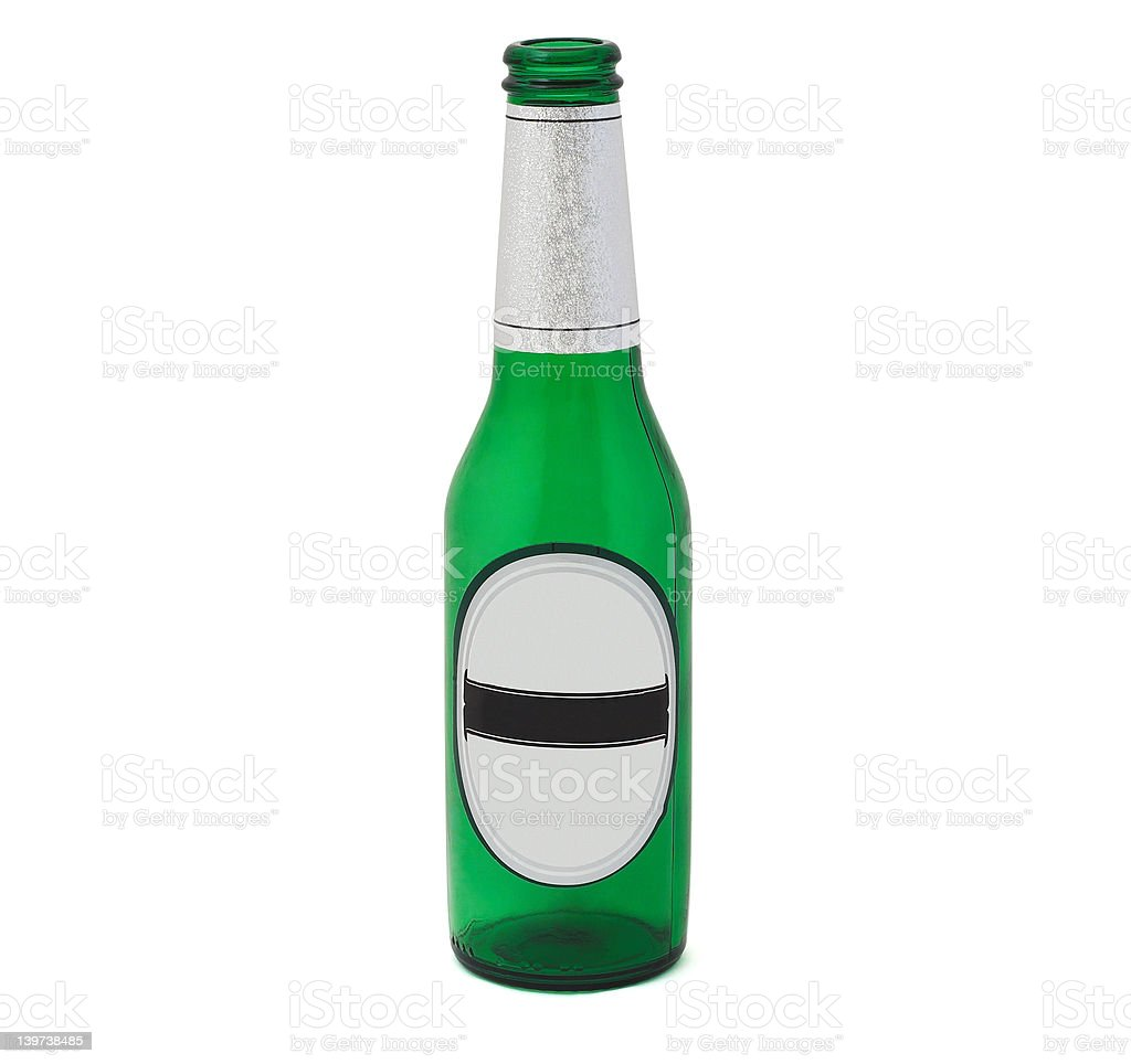 Beer bottle. royalty-free stock photo