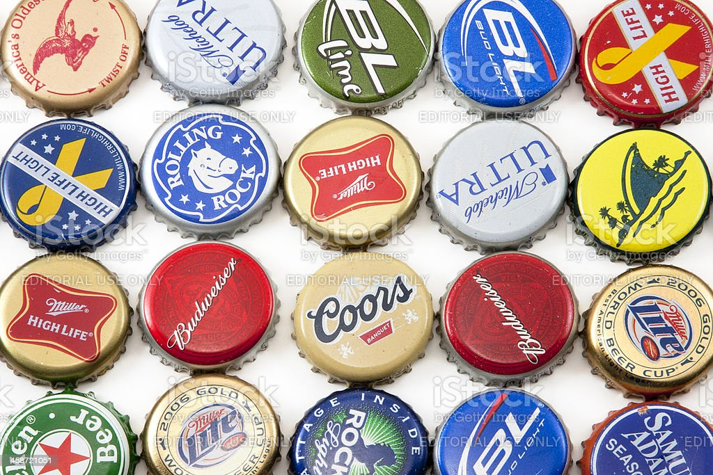 Beer Bottle Tops royalty-free stock photo