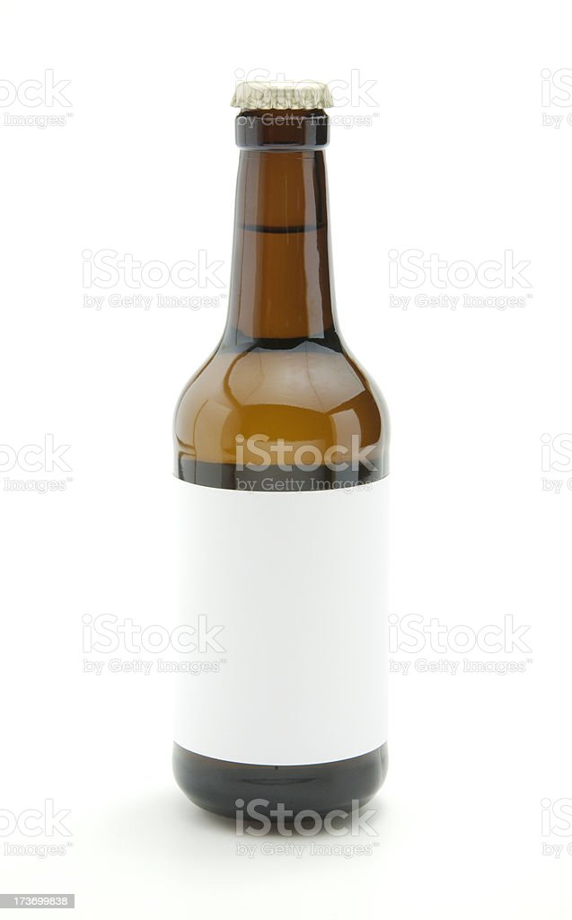 Beer bottle with blank label royalty-free stock photo