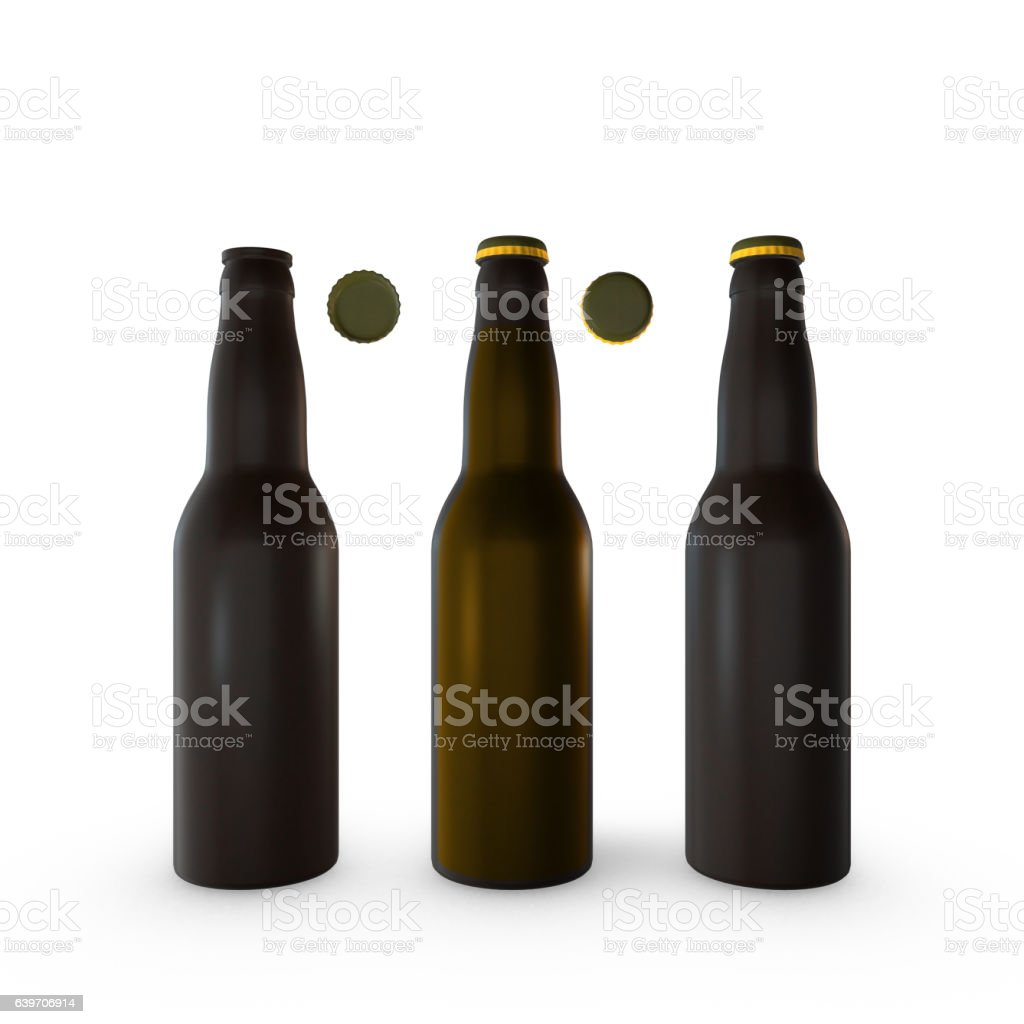 Beer Bottles - Open and Closed stock photo