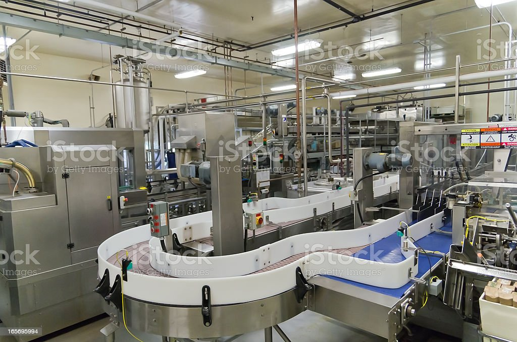 Beer Bottling and Packaging Equipment stock photo