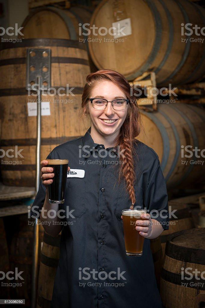 Beer Brewer stock photo