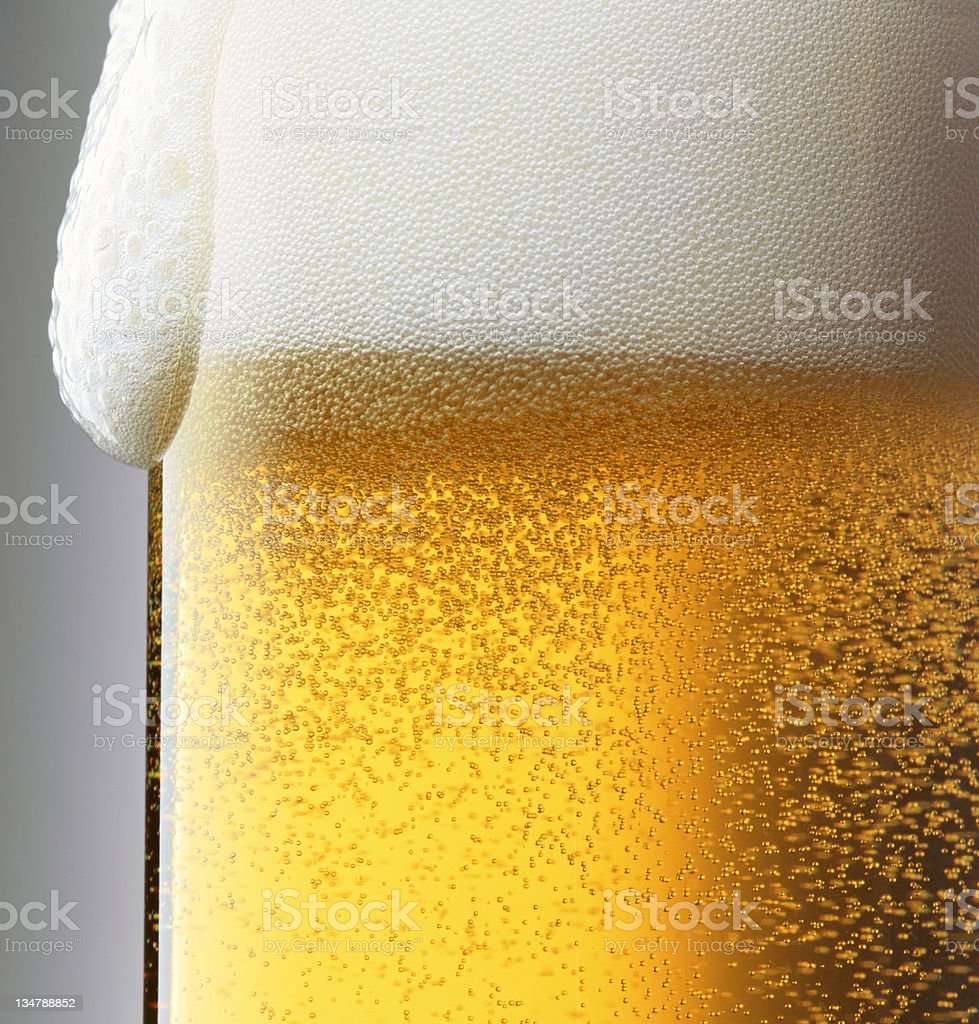Beer bubbles XXL stock photo