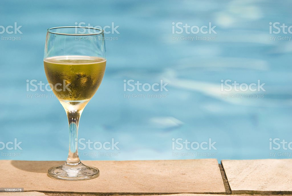 Beer by the pool royalty-free stock photo