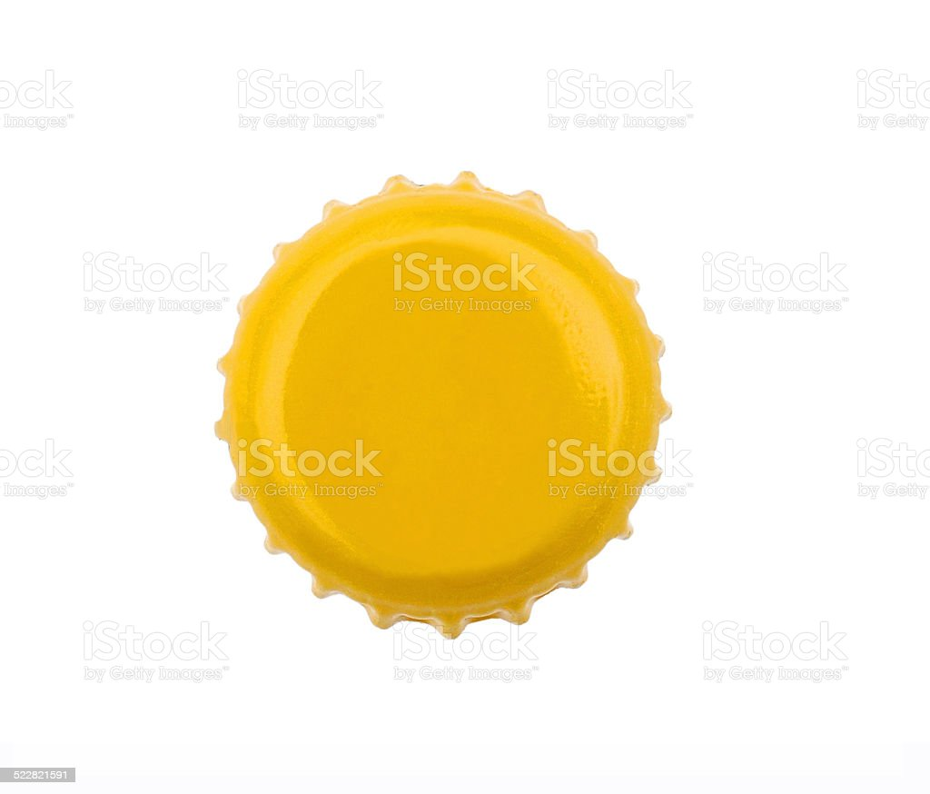 beer cap isolated stock photo