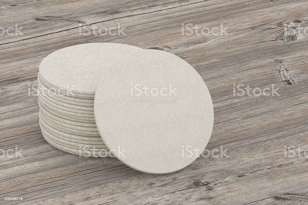Beer coaster stock photo