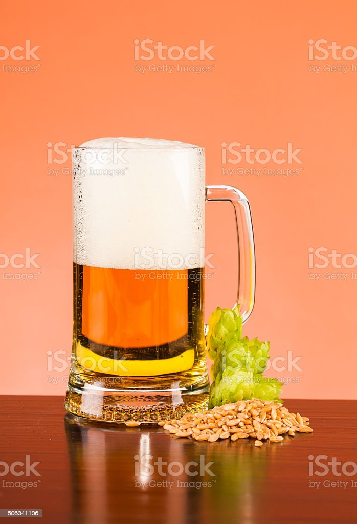 beer composition stock photo