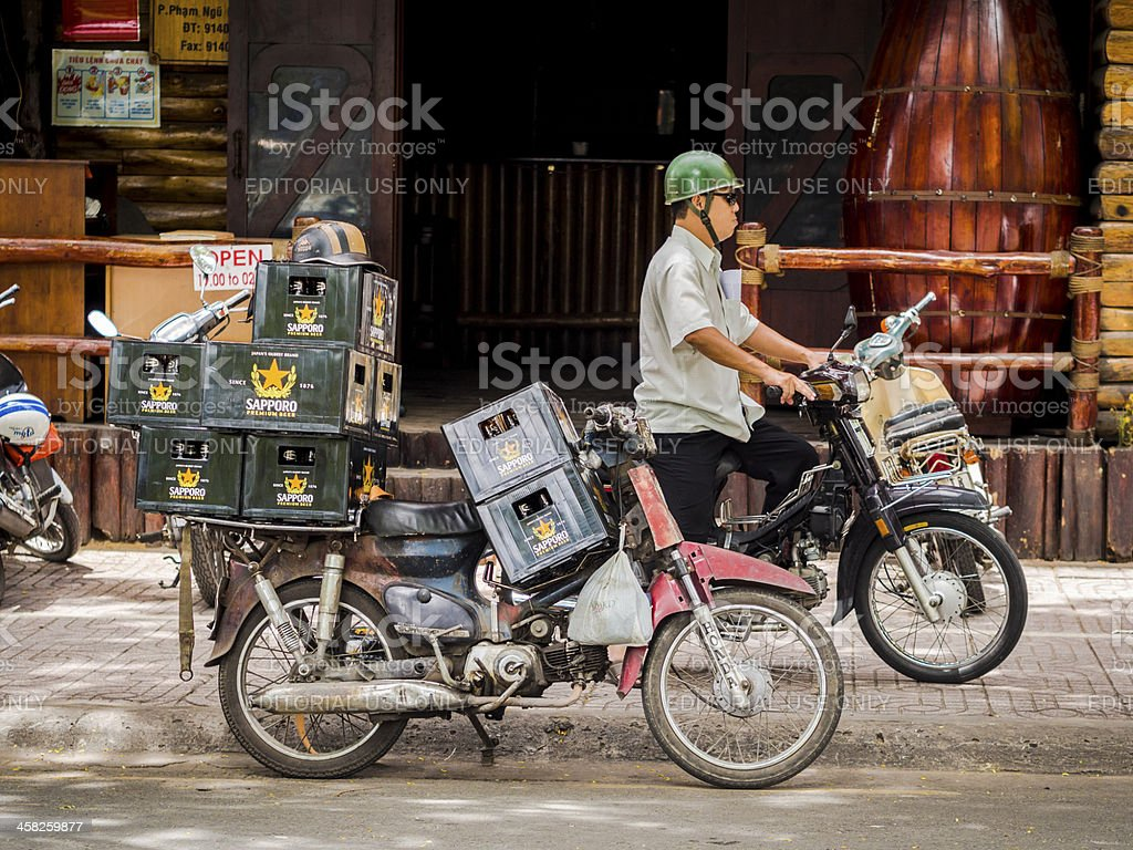 Beer Delivery, Ho Chi Minh City, Vietnam royalty-free stock photo