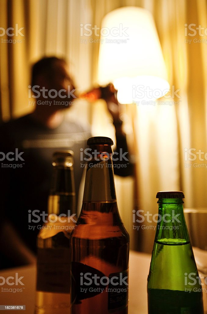 beer drinker stock photo