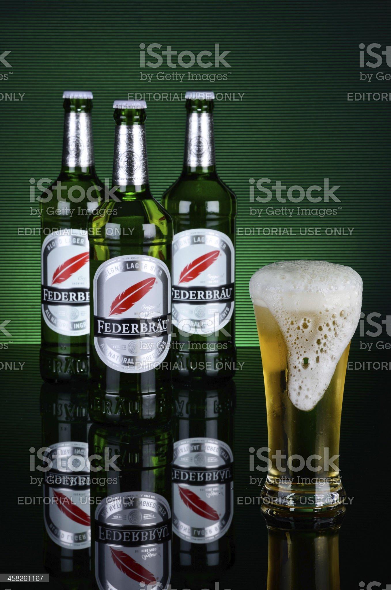 beer federbrau. royalty-free stock photo