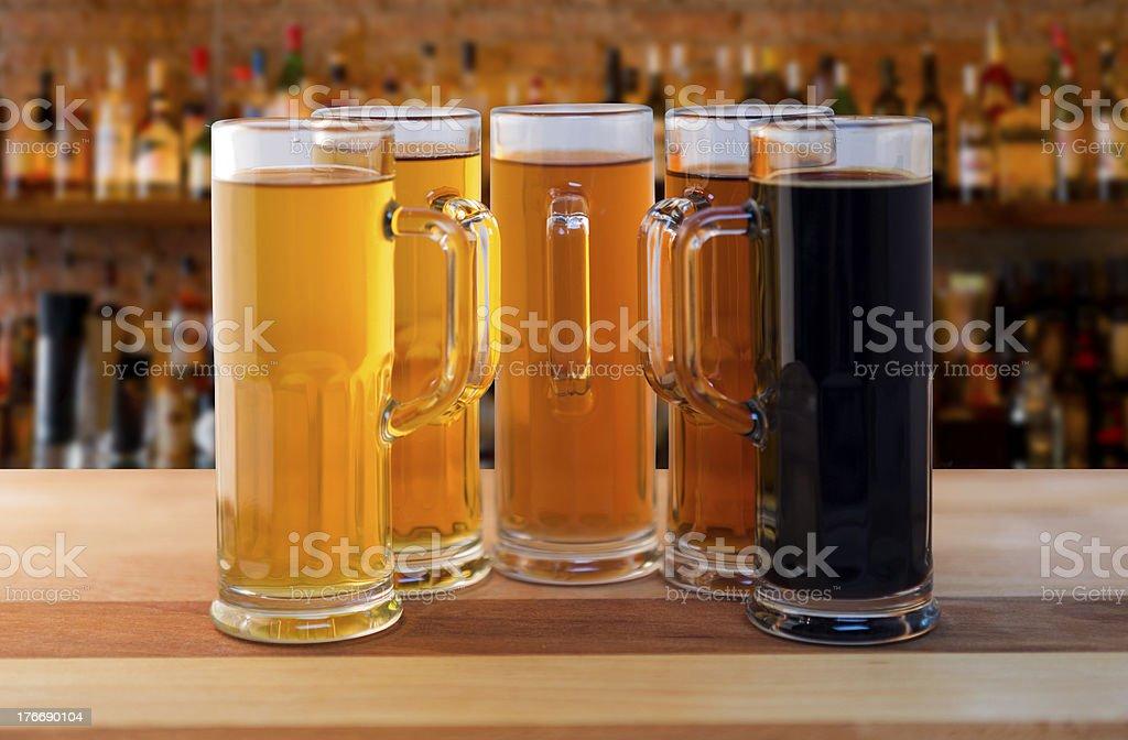 beer flight royalty-free stock photo