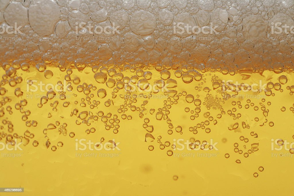 Beer foam macro stock photo