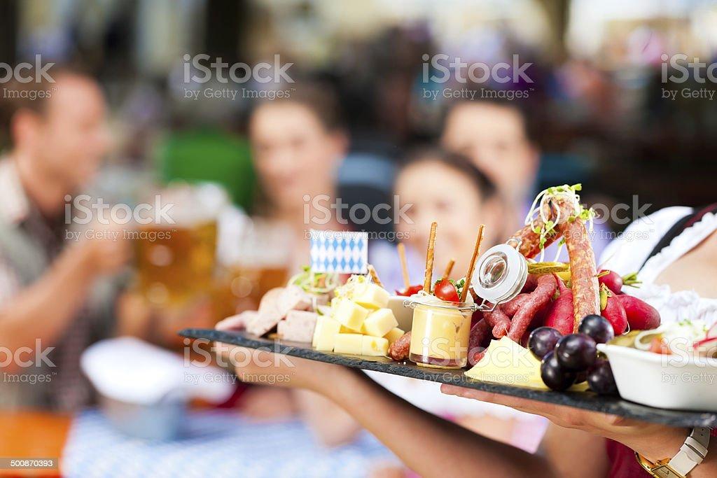 Beer garden restaurant stock photo