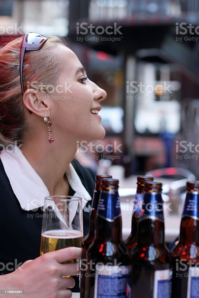 Beer girl royalty-free stock photo