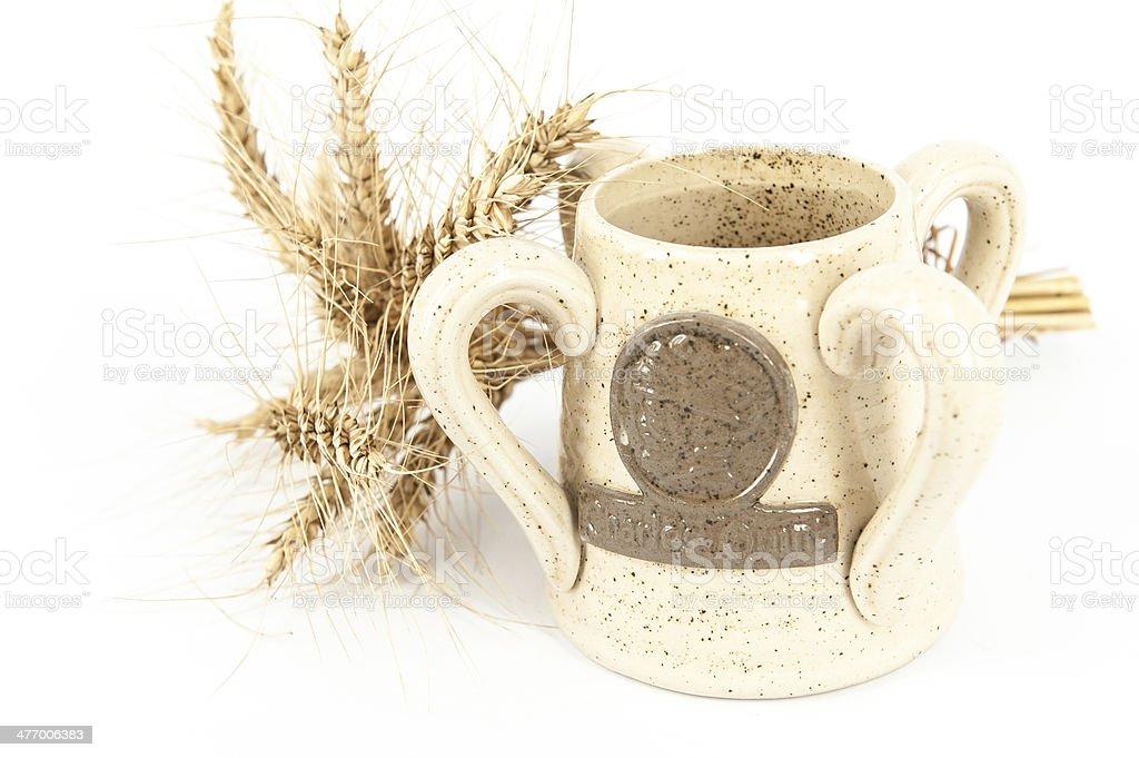 Beer glass ceramic stock photo