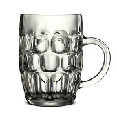 beer glass on white