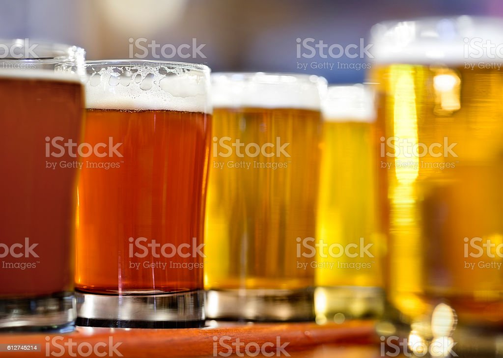Beer Glasses stock photo
