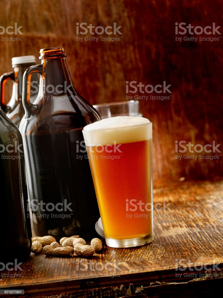 Beer Growlers stock photo