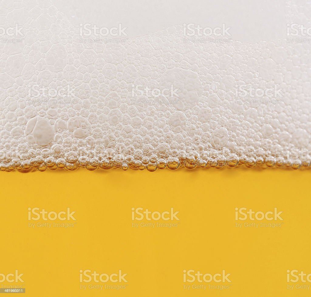 Beer in glass closeup shot stock photo