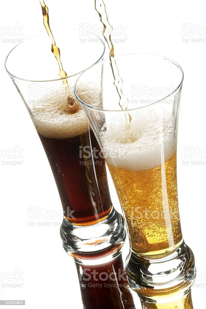 Beer in glasses royalty-free stock photo