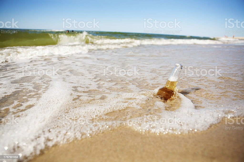 beer in the sea royalty-free stock photo